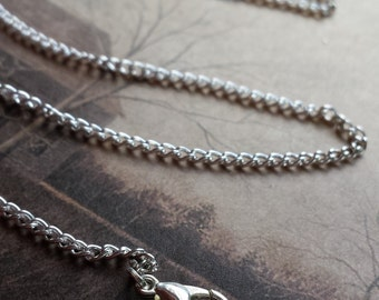 "18"" silver plated chain necklace, you choose amount!"