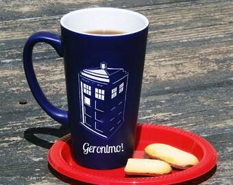 Large Blue Personalized Doctor Who Tardis Mug, Dr Who Mug, Dr Who, Tardis, Custom Coffee Mug, Personalized Mug, Coffee Mug, Mug (CS4141)