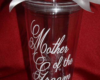 Mother of the Groom tumbler. Mother of the Groom Cup.Personalized with Mother's Name and Wedding Date (item #3-1-MOG)