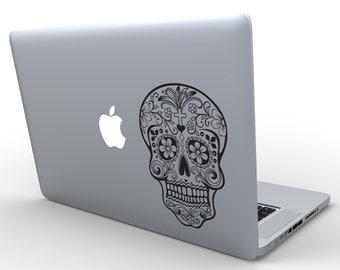 Sugar Skull Decal Sticker, dia de los muertos Custom Wall Decal macbook pro 13 sticker apple macbook decal skin decor sticker