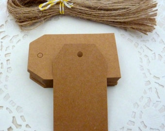 50 Brown Kraft Paper Gift Tags Price Tag Crafts 7 x 4cm