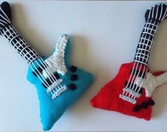 Guitare electrique tricote peluche Hard Rock Style guitare