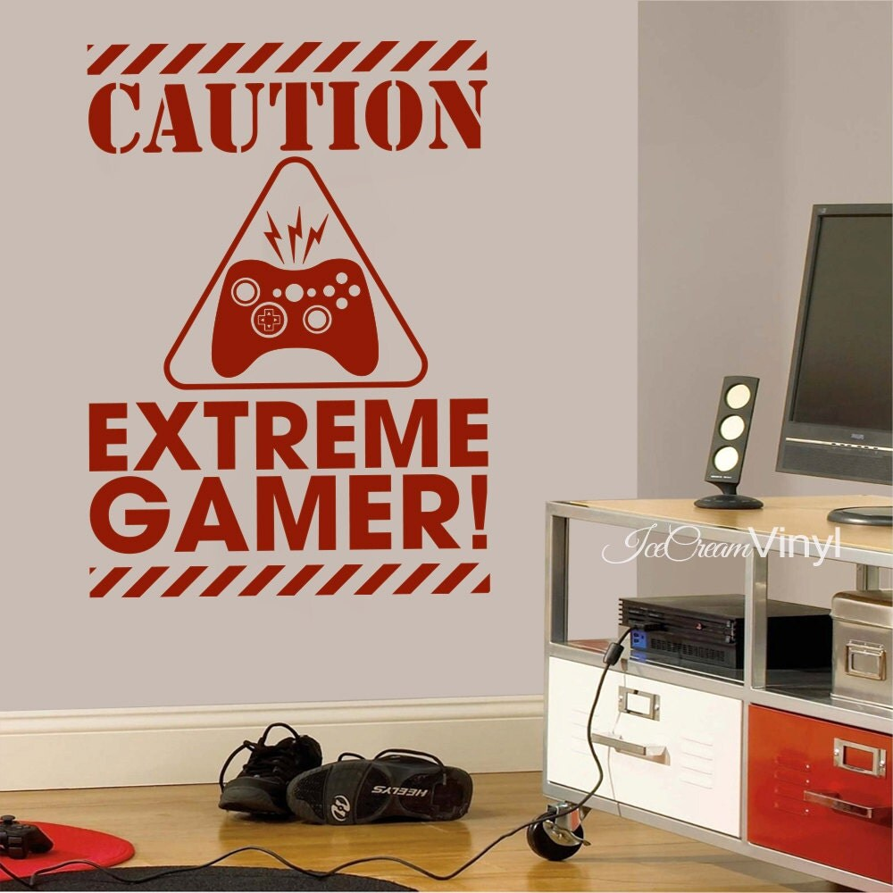 Gamer wall decal sticker video gamer wall decor birthday zoom amipublicfo Choice Image