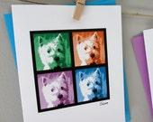 Personalized Photo Notecards - Photo Squares - Set of 12 // Custom Photo Notecards // Personalized Pet Stationery