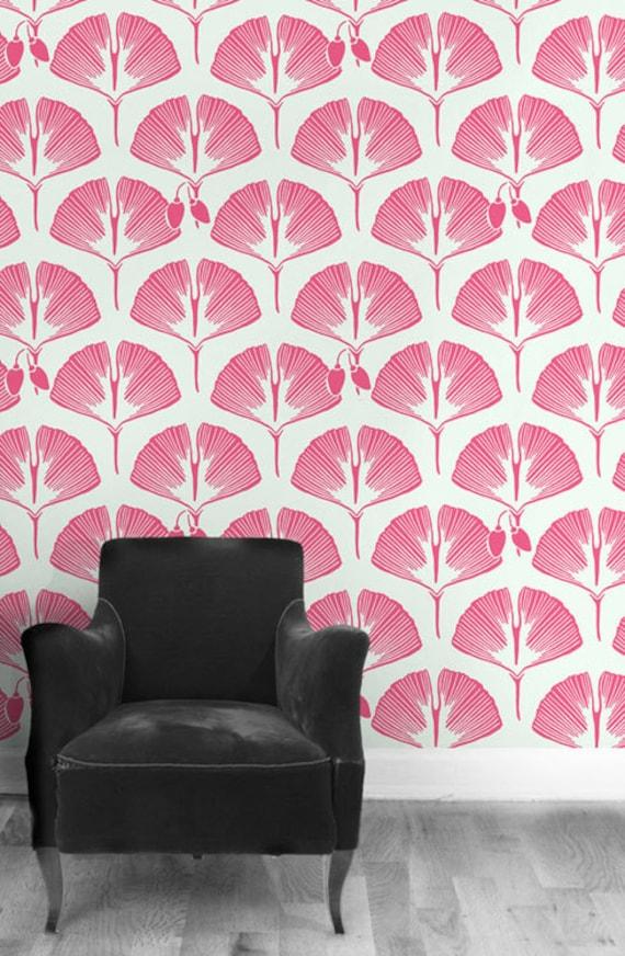 Self adhesive vinyl temporary removable wallpaper wall by for Temporary vinyl wallpaper