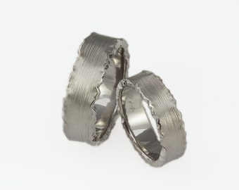 Wedding Ring Set Matching Bands Band Titanium