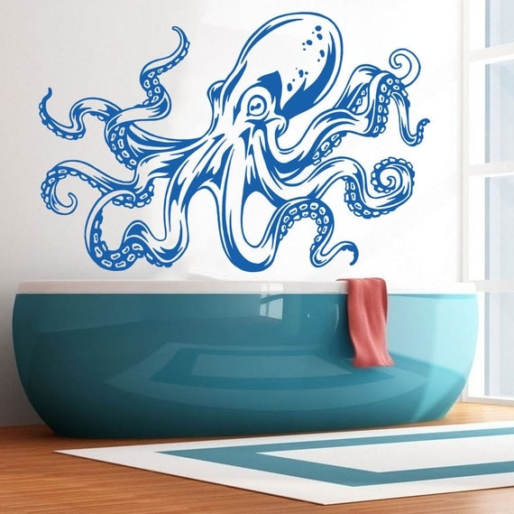 Octopus Wall Decal Art Decor Sticker octopus decal octopus