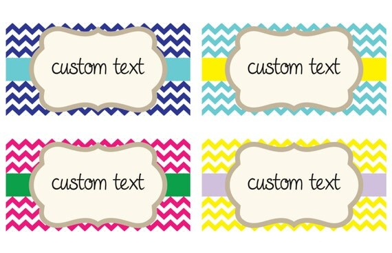 Chevron Custom Storage Labels / Choose Your by ...