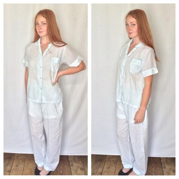 Paper Thin Cotton Pajama Set Womens Lounge Pj Set Threadbare
