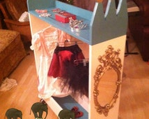 Princess costume display, dress up station, Princess Dress Up Closet, dress up stand, One of a Kind- Our original design, patent pending.