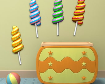 Wall decals lollipops A183 - Stickers sucettes A183