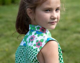 Sleeveless modern girls shirt