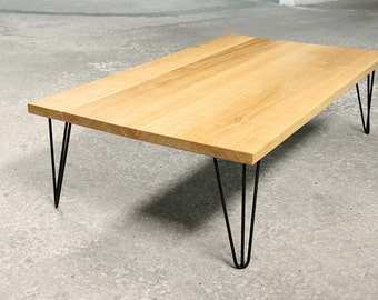 Coffee table design wood and metal