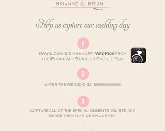 Wedding App Sign {Digital File}