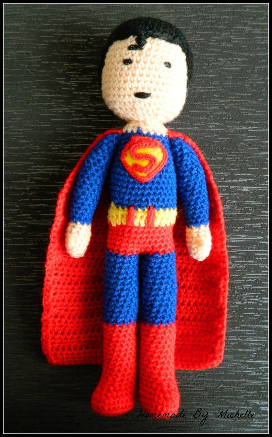 Knitting Pattern Superman Doll : Superman inspired crochet doll by HomemadeByMichelle on Etsy