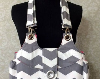 Chevron Bella Bag, Purse, Hobo Bag, Chris W Designs