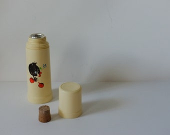 child thermos, theros to coffee or tea, thermos vintage picnic