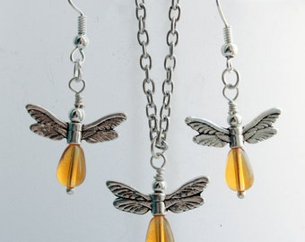 Your choice - firefly necklace & earrings set