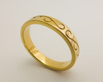 thin wedding ring engraved wedding ring simple wedding band for men and women