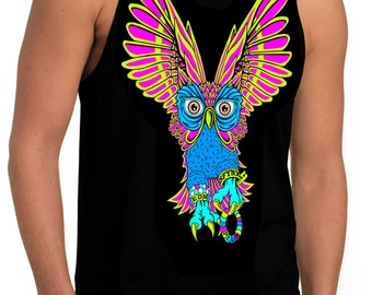 "Men's ""PLUR Owl"" Tank Top by SFYNX Apparel (Free USA Shipping)"