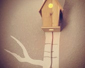 Bird House Night Light, Woodland Nursery- Classic, Natural Unfinished Wood