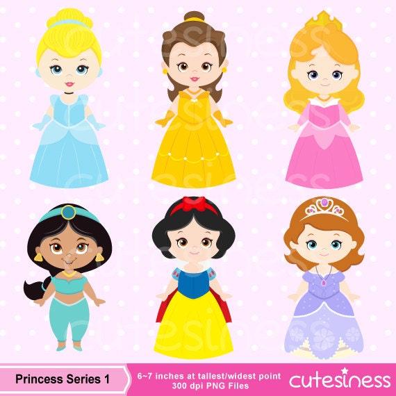 Princess Clipart Cute Princess Digital Clipart Princess Clip