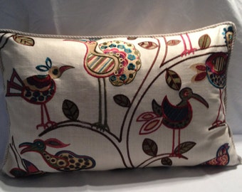 Calico Corners Embroidered Bird Pillow Covers