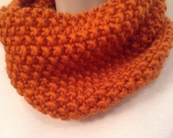 Pumpkin Orange Knit Neck Warmer