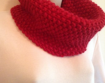 Red Knit Neck Warmer