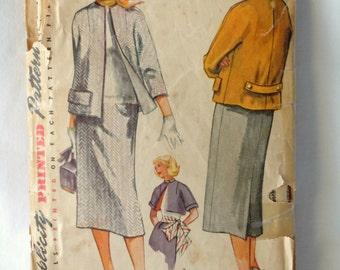 1952 Ladies Simplicity coat pattern
