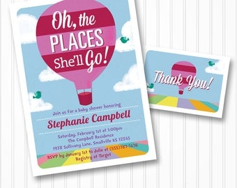 oh the places you ll go baby shower invitations