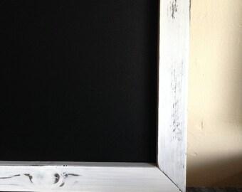 """Large Framed MAGNETIC Chalkboard 18""""x36"""" Reclaimed Wood, Wedding Chalkboard, Rustic Chalkboard, Menu Chalkboard, Kitchen Chalkboard, Big"""