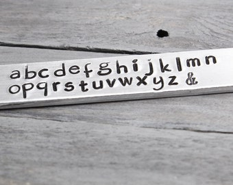 Chalkboard Metal Stamps, Lowercase Chalkboard Stamps, Lowercase Stamps,Lowercase Metal Stamps,Metal Stamping Supplies,Hand Stamping, INV1002