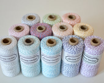 Divine Twine Sample Pack // Bakers Twine Sample Pack // 13 Colors (10 yards per color, 130 yards total)