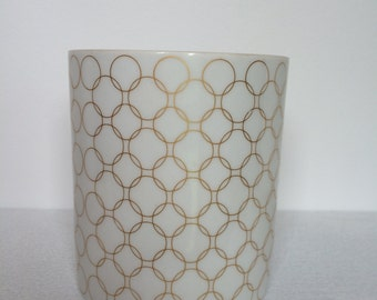 White and Gold Rosenthal Vase