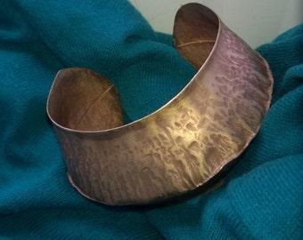 Bronze Forged Cuff Bracelet