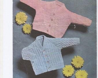 Baby Cardigans, Vneck Baby Cardigan, Baby Boys Cardigan, Baby Girls Cardigan. Knitting pattern only.