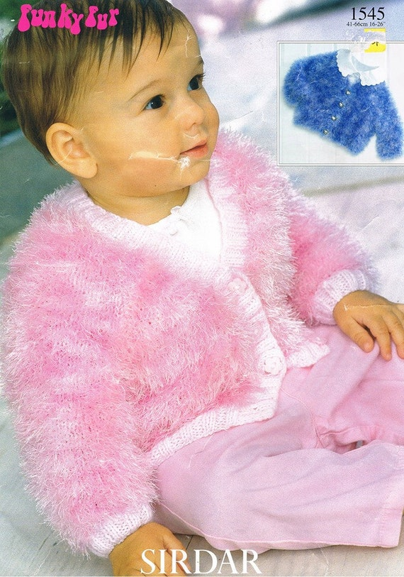 Cable Hat Knit Pattern : Baby Girls Funky Fur Wool Cardigan Baby Girls Button Up