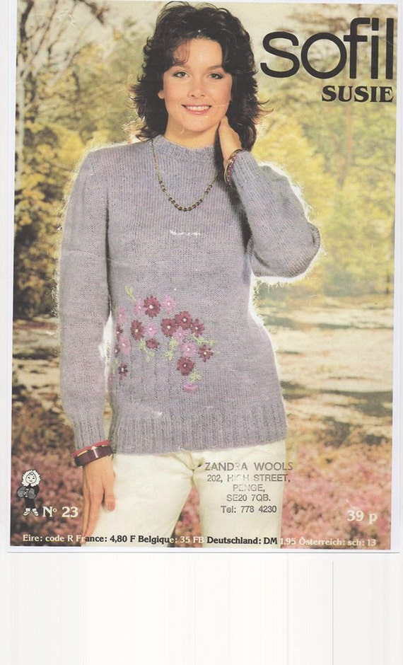 Mohair Knitted Sweater Ladies Mohair Knitting Pattern Double