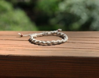 Basic Adjustable Spiral Knot Hemp Bracelet