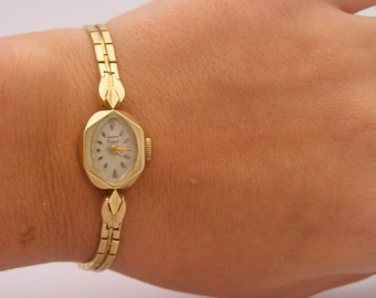 1960's Ladies Lucien Piccard Wrist Watch. 14K Yellow Gold