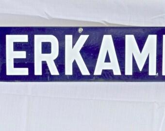 "Antique French Metro Sign ""Oberkampf"" Ligne No. 9"