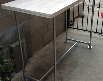Popular items for industrial bar table on etsy - Table bar industriel ...