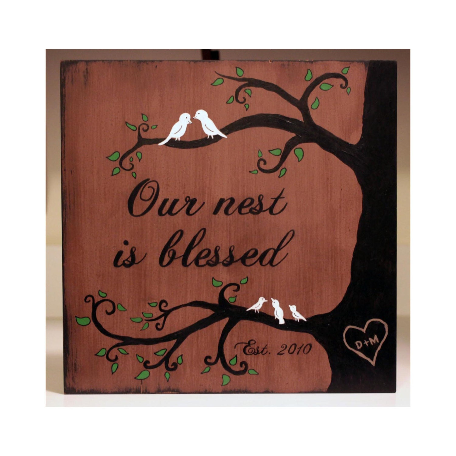 Our Nest Is Blessed Large Wooden Sign Family By CountrySpringWoods