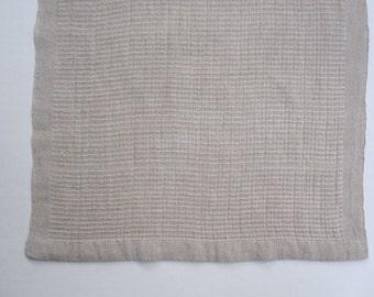 Handwoven Linen Bronson Lace Table Runner