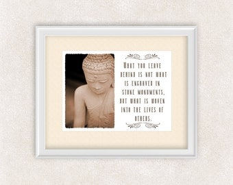 Buddha Statue Art Inspirational Quote Print - 8x10 PRINT Buddhist - Wall Art - Home Decor - Office Art - Item #537