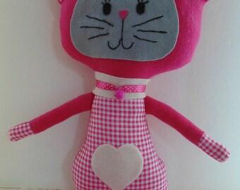 handmade stuffed kitten