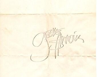 CEL001  Gene Simmons KISS Autograph