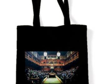 Banksy Monkey Parliament Shopping Bag