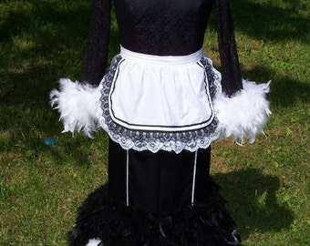 Babette Feather Duster Beauty and the Beast Dress Gown Custom Costume